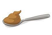 Spoon of dulce de leche