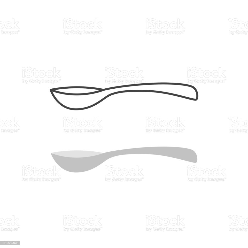 Spoon vector isolated vector art illustration