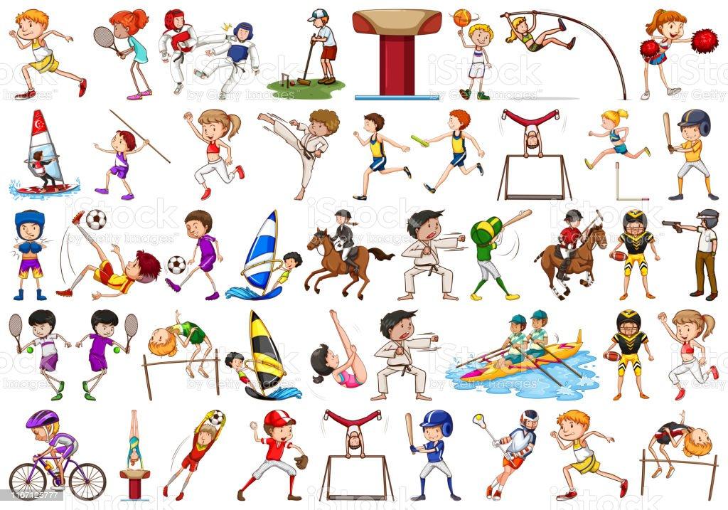 Super Sport Activiteiten Door Jongens Meisjes Kinderen Atleten TA-83