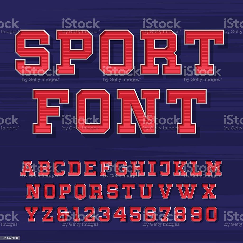 Sport alphabet vector font vector art illustration