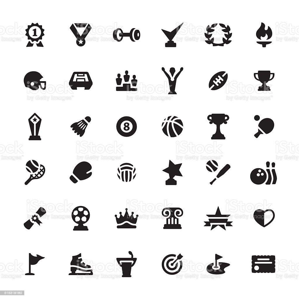 Sport and Achievement vector symbols and icons vector art illustration