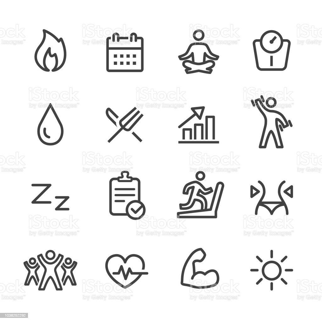 Deporte y actividad iconos - serie - ilustración de arte vectorial