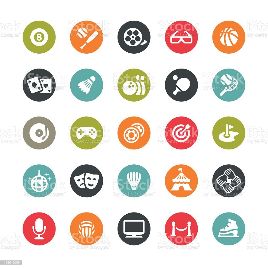 Sport and Entertainment vector icons / Ringico series vector art illustration