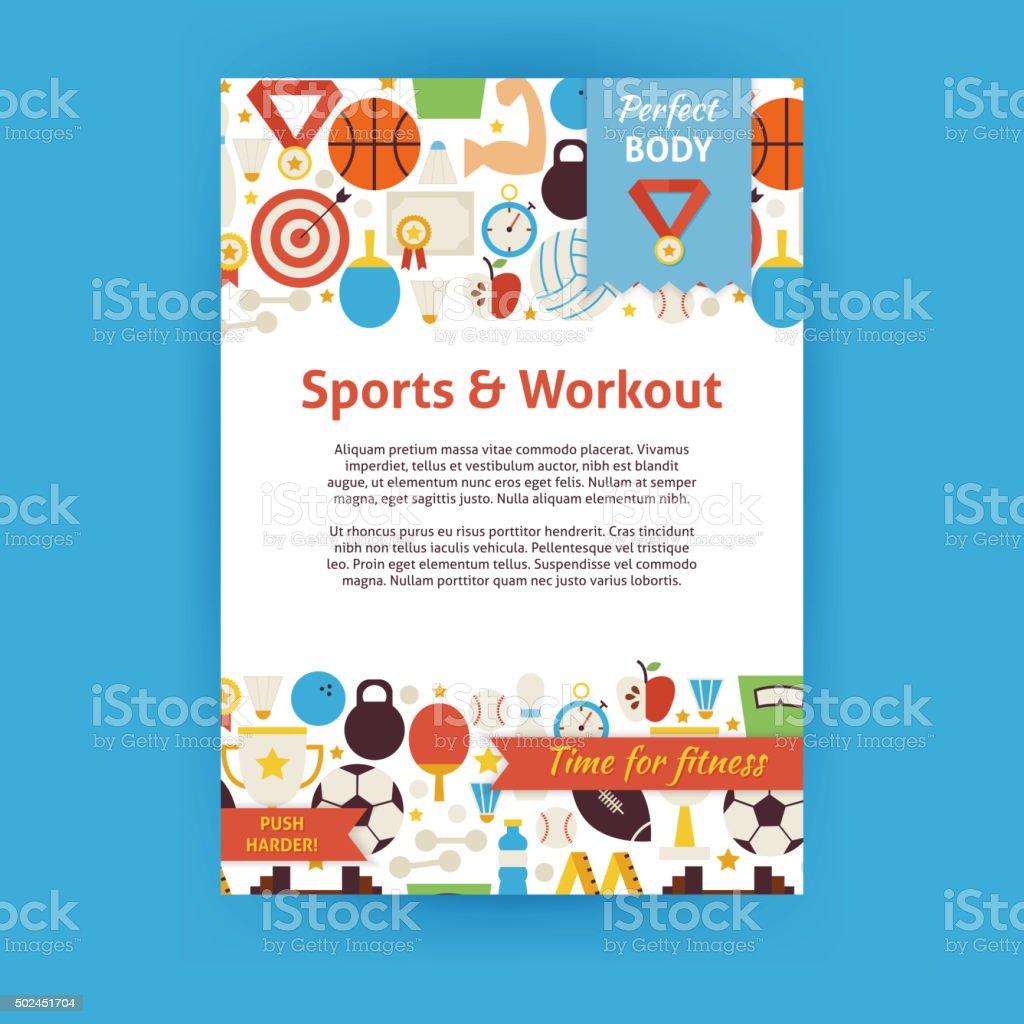 Sport Und Training Vektoreinladung Vorlage Flyer Stock Vektor Art ...