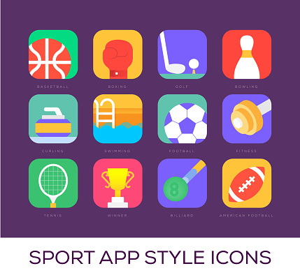 Sport App Style Icons