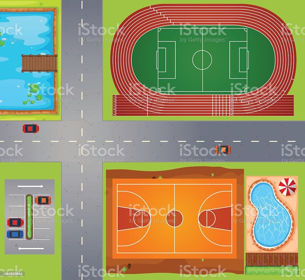 Sport area vector art illustration