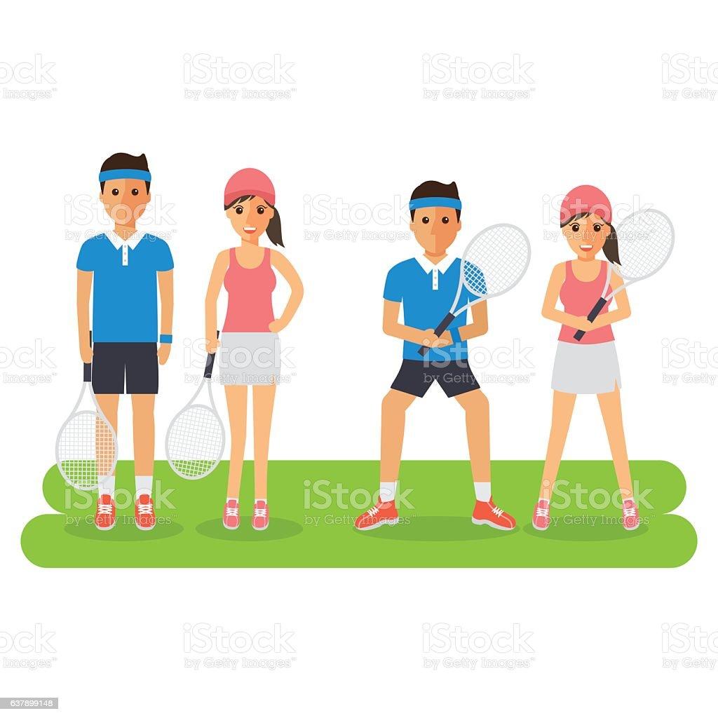 sport athlete-07 vector art illustration