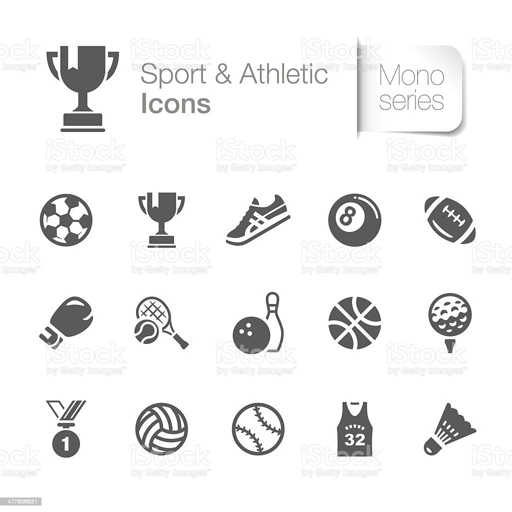 Sport & Athletic Related Icons vector art illustration