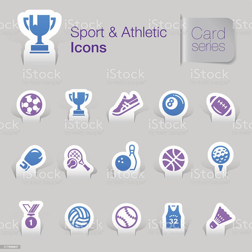 Sport & Athletic Related Icons royalty-free sport athletic related icons stock vector art & more images of american football - ball