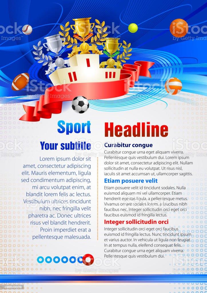 Sport award vector art illustration