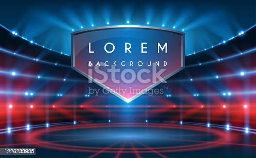 istock Sport background in blue and red colors 1226233935