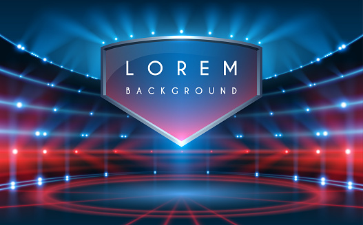 Sport background in blue and red colors