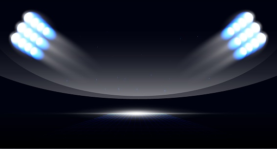 Sport background of night stadium