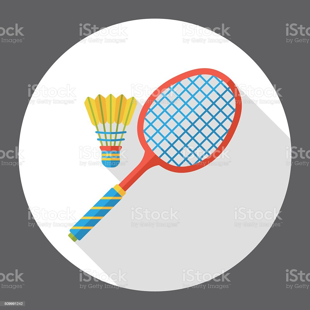 sport badminton flat icon vector art illustration