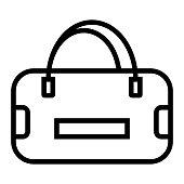 istock Sport Bag Line Icon, Outline Symbol Vector Illustration 1308878892