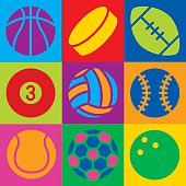 Sport Ball Pop Art