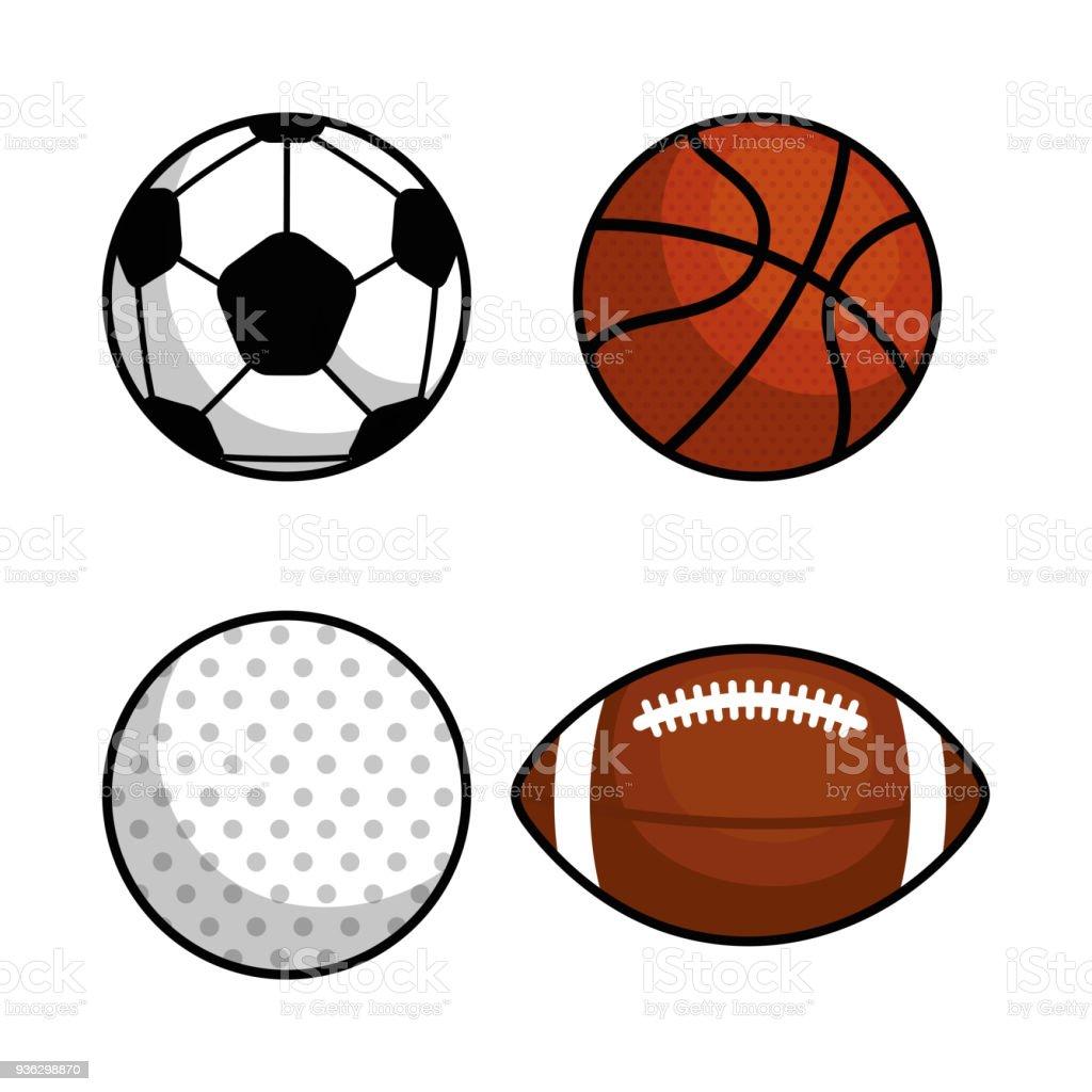 14186a03d ícone isolado do esporte bolas ilustração de ícone isolado do esporte bolas  e mais banco de