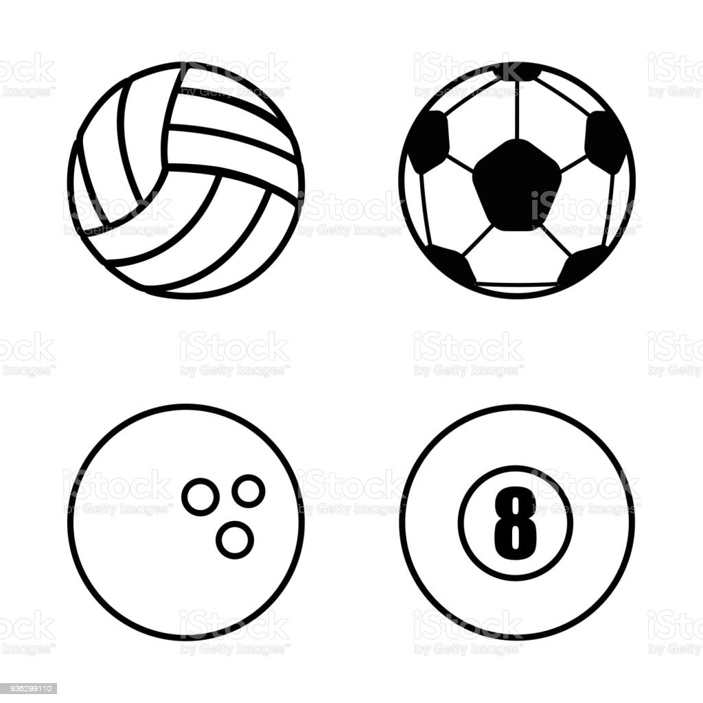 9e7d0e8fe ícone isolado do esporte bolas ícone isolado do esporte bolas - arte  vetorial de acervo e