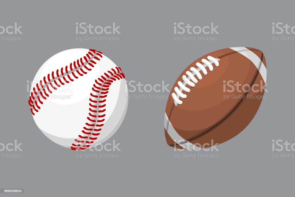 Sport balls isolated tournament win round baseball soccer equipment...