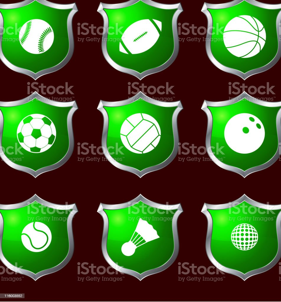 sport balls royalty free vector icon set royalty-free sport balls royalty free vector icon set stock vector art & more images of american football - ball