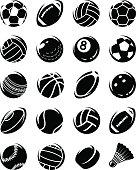 Sport balls set. Collection sport balls set, edit size and color, vector