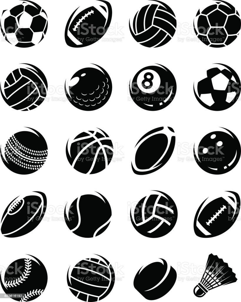 スポーツ ボールのセットです。ベクトル ベクターアートイラスト