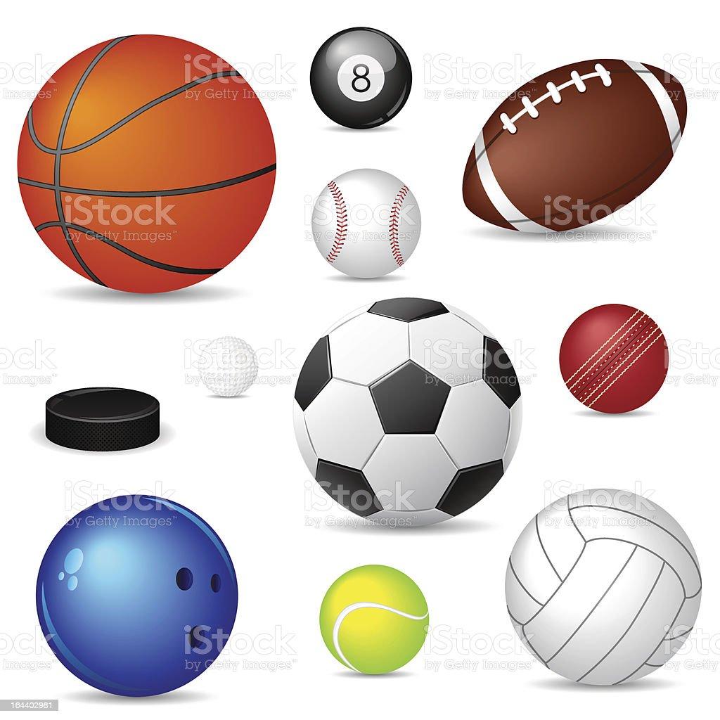 Set of vector sport balls