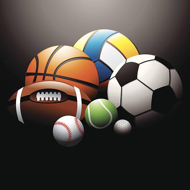 sport balls - sports equipment stock illustrations, clip art, cartoons, & icons