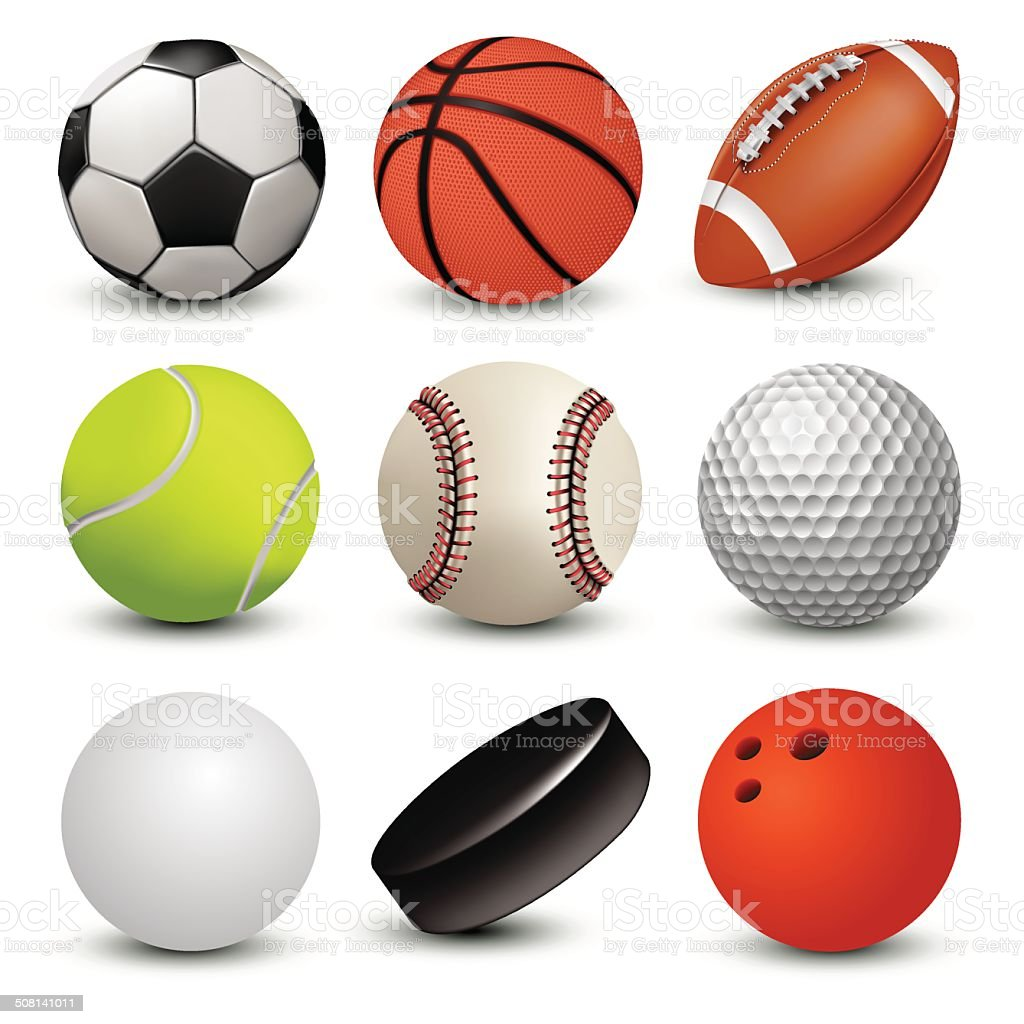 Sport balls vector art illustration