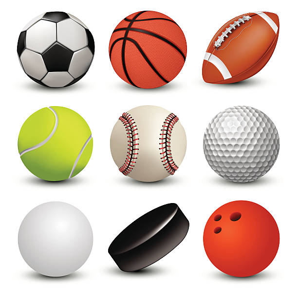 stockillustraties, clipart, cartoons en iconen met sport balls - bal