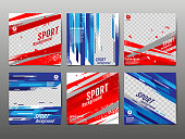 Sport Banner Socail Media, Abstract Background, Vector Illustration, Dynamic, grunge Texture.