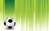 sport banner with soccer ball