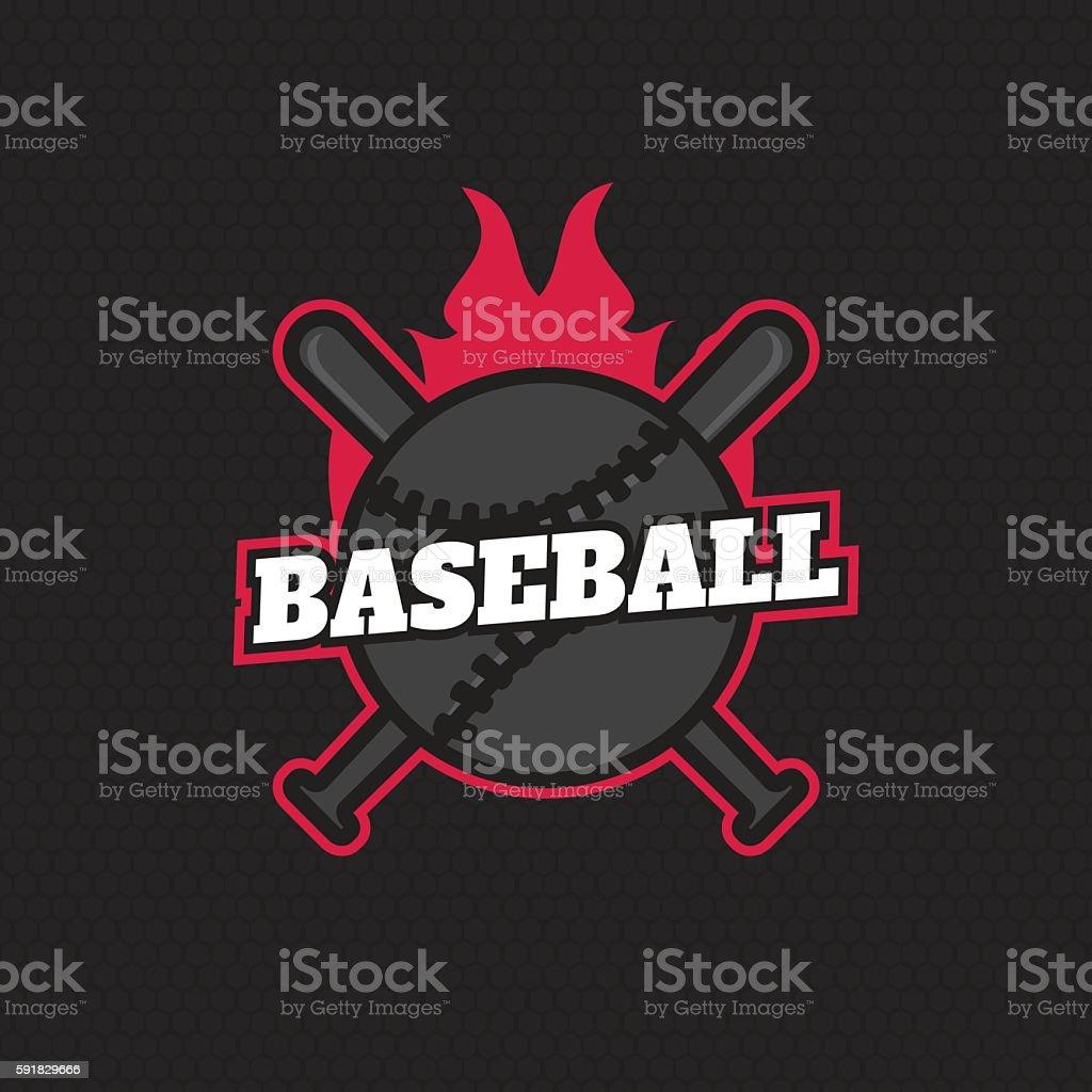 Sport Baseball Badge Logo Template Label Royalty Free