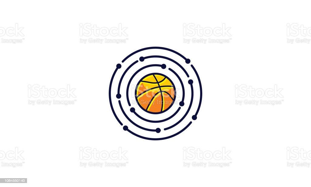 sport basketball logo icon vector technology