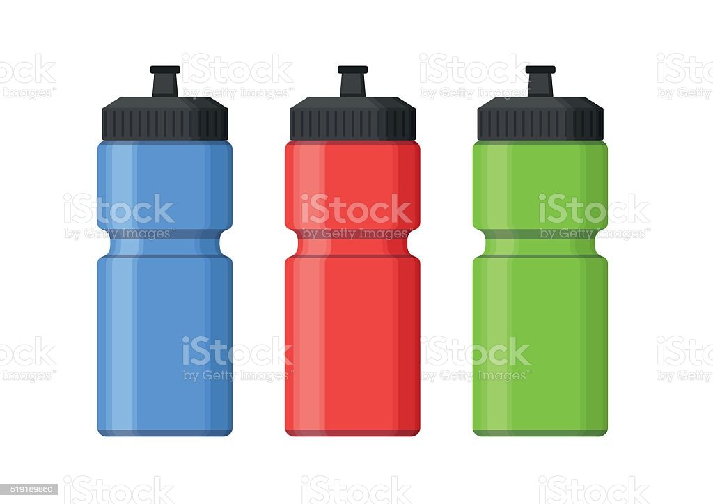 Sport bottles icon for water flat style. Sipper vector vector art illustration