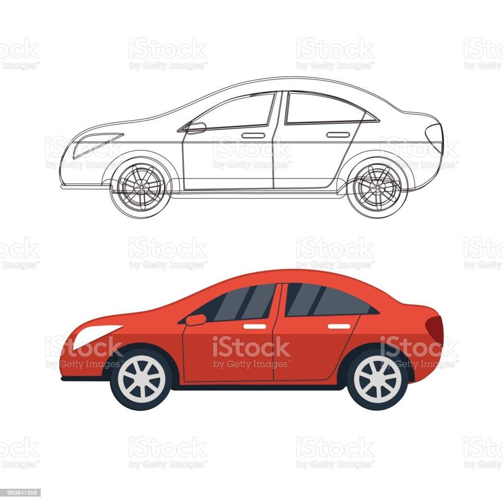 Sport Auto Skizze Konzept Stock Vektor Art und mehr Bilder von ...