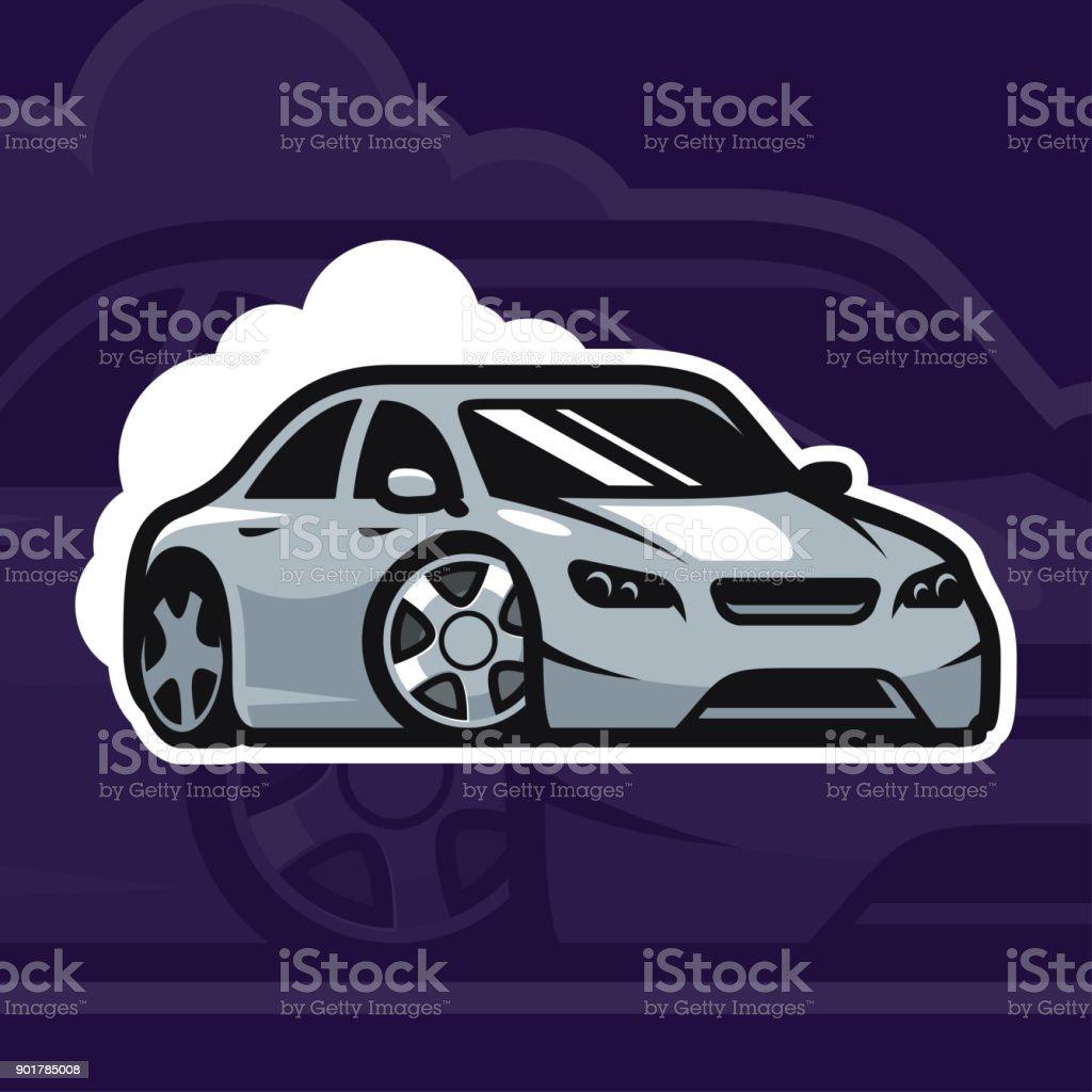 Sport Car Vector Illustration Drift Car Icon Design Street Racing