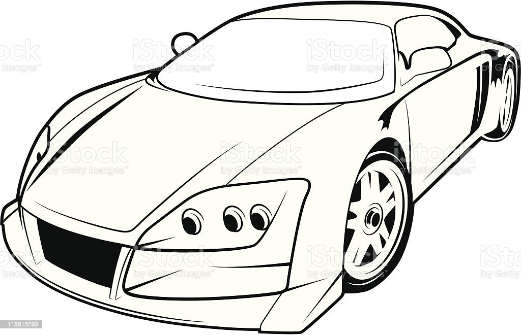 Sport car vector stock vector art more images of auto - Dessin voiture sport ...