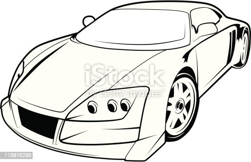 Sport Car Vector Stock Vector Art & More Images of Auto