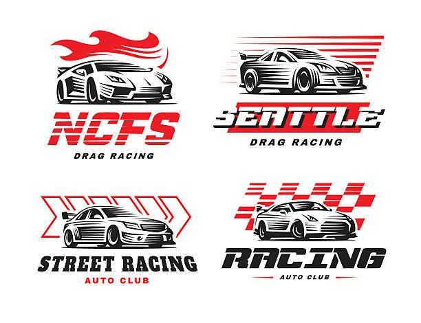 Sport cars illustration on white background. vector art illustration