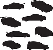 Sport Cars Silhouette Collection (vector+jpg)