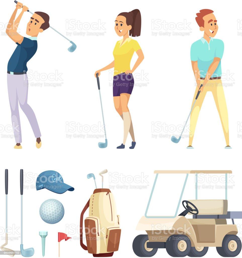 Ilustración de Personajes Del Deporte Y Varias Herramientas Para ...
