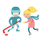 Sport children vector.