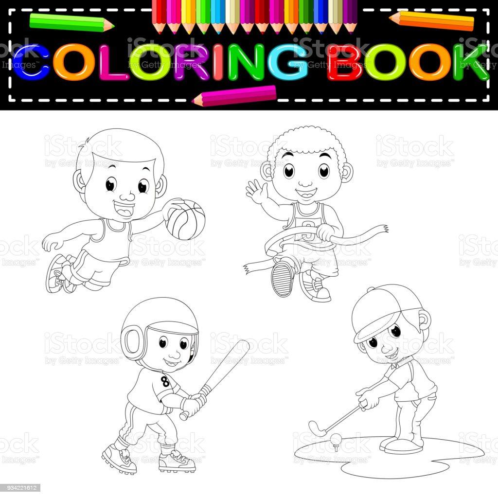 Coloriage Danseuse Hawaienne.Livre De Coloriage De Sport Vecteurs Libres De Droits Et Plus D