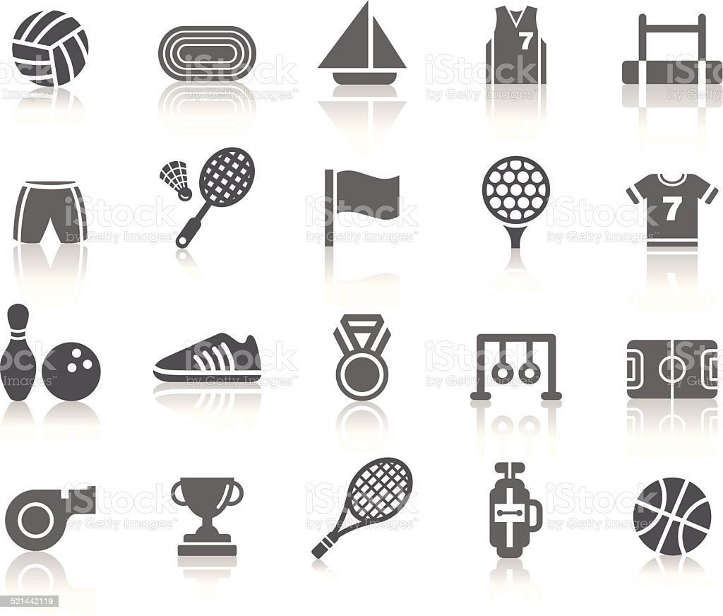Sport Competition Icons vector art illustration