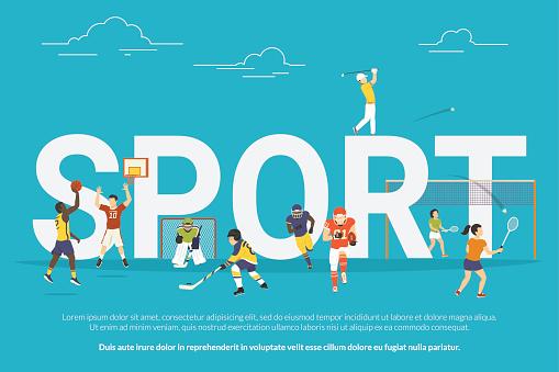 Sport concept illustration