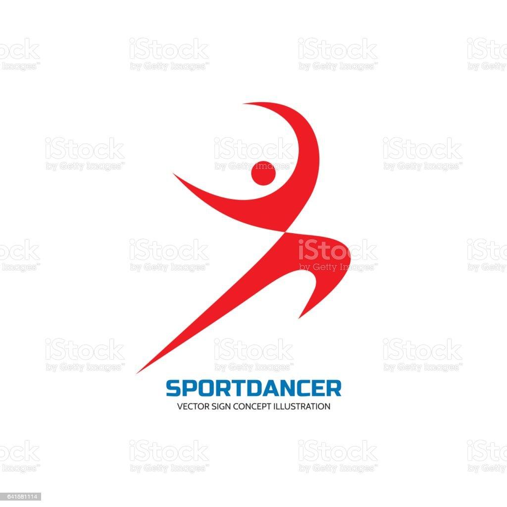 Ilustración de Danza De Deporte Vector Logo Plantilla Concepto ...