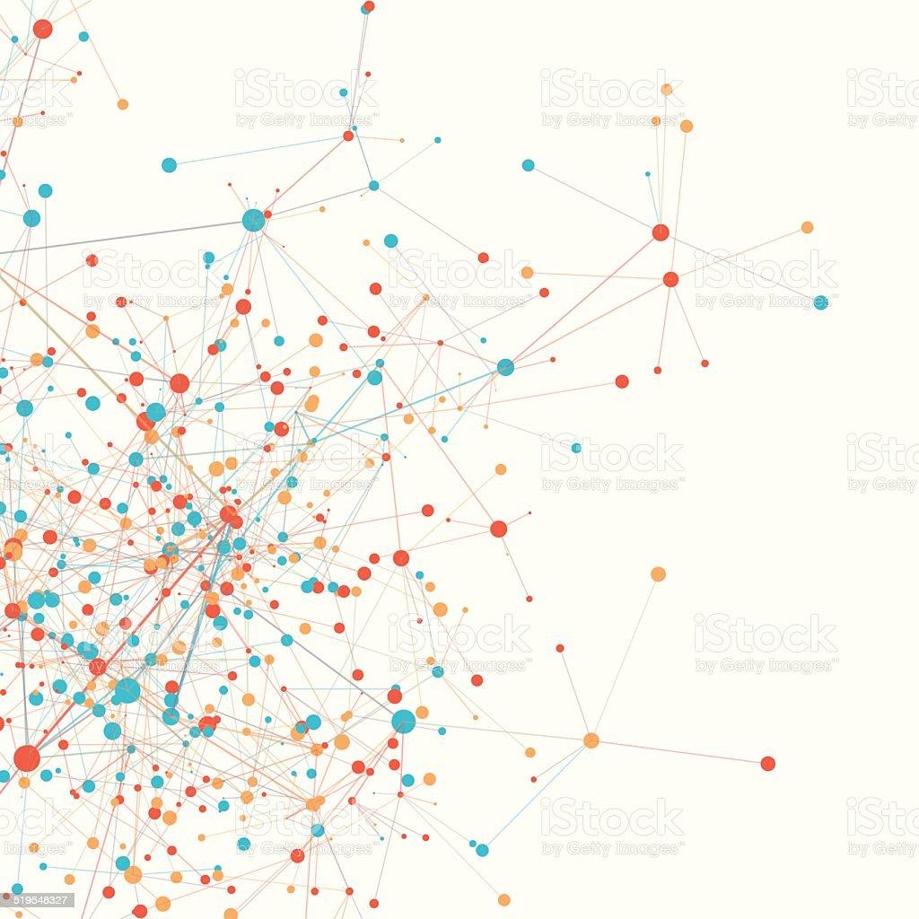 Sport Digital Branch Connection Pattern Square vector art illustration