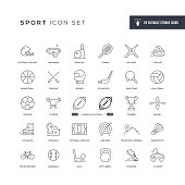 29 Sport Icons - Editable Stroke - Easy to edit and customize - You can easily customize the stroke with