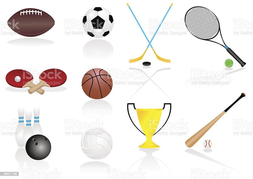 Sport elements royalty-free sport elements stock vector art & more images of badminton racket
